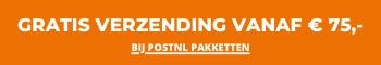 Gratis verzending bij Postnl pakketten vanaf € 75,-