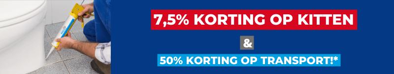 7,5% korting op kitten en lijmen