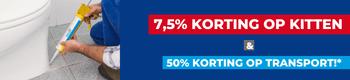 7,5% korting op kitten en lijmen!